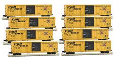 Micro-Trains MTL N-Scale 50' Combo Rib Side Box Cars Railbox - Runner 8-Pack