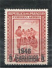 Paraguay 1946 Air Mail Double Overprint MNH OG