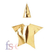 Childrens Gold Star Costume Nativity Christmas Santa Fancy Dress Kids Costume UK