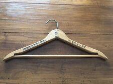 Vintage Wooden Coat Hanger Sheraton Town House La Calif Advertising Liz Taylor