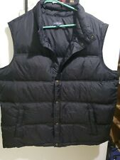 Lands End Puffer Down Feather Vest Black Mens Size XXL 50-52