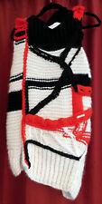 $3,400 AUTH NWT Victor Alfaro Asymmetrical Colorblock Fringe Sweater OS