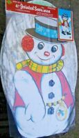 "Beistle No.22530 JUMBO 41"" Jointed SNOWMAN Door Decoration 1975 SEALED RARE~WOW!"