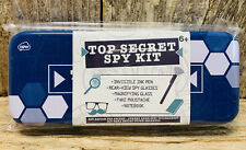 6 Piece Top Secret Spy Kit w/Tin- Invisible Ink, Spy Glasses, Magnifying Glass