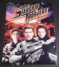"STARSHIP TROOPERS cast(x3) Authentic Hand-Signed ""Casper Van Dien"" 11x14 Photo"
