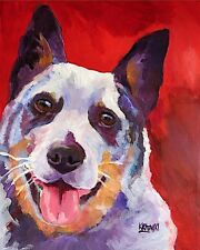 Australian Cattle Dog 11x14 signed art Print painting