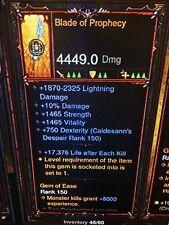 Diablo 3 Primal ancienne véritable lame de Prophétie nouveau PATCH 2.6.1 arme