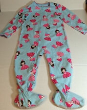 CARTER'S 3T BLUE ONE PIECE FOOTED PAJAMAS COVERED IN PRINCESSES #34P