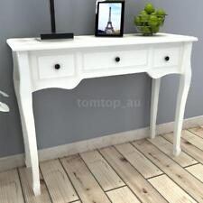 White Dressing Console Hall Side Table Bedside 3 Drawer French Furniture M6F8