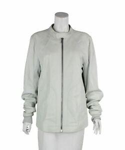 RICK OWENS White Leather Jacket, UK 42 US 42 EU XL