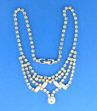 Choker 1.25x14.5 Vintage Rhinestone Necklace