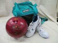 Columbia 300 Pink Swirl 12 lb Bowling Ball Carry Case Bag Dexter Shoes (AL)