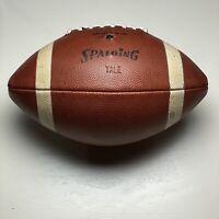 Yale University Bulldogs VINTAGE Spalding J5V Intercolleg Game Ball Football