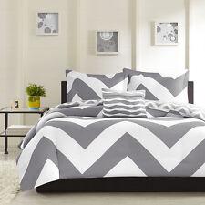 New! ~ Cozy Grey Chevron Stripe Sport Soft Comforter Set & Pillow Full Queen