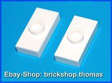 Lego 2 x Konverter Platten weiß 1 x 2 - 3794 - Plate white Jumper - NEU / NEW