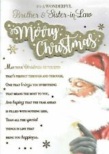 Wonderful BROTHER AND SISTER-IN-LAW - Quality Large Christmas Card Santa Design