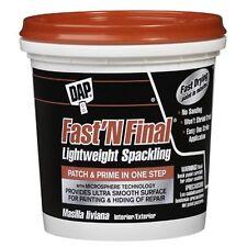 Dap 12140 Fast N Final Interior Exterior Spackle, 1/2-Pint