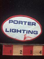 Vtg PORTER LIGHTING Advertising Patch C761