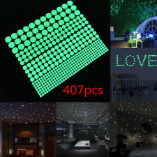 407pcs SET Glow In The Dark Round Dot Wall Stickers Wall Decor Sticker KIDS Room