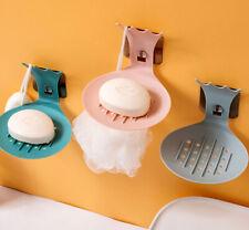 Bathroom Soap Dish Plate Storage Holder Bath Shower Hanger Plastic Stick Shelf