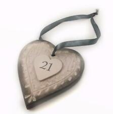 East of India Small Leaf Heart 21st Birthday Gift 477EOI