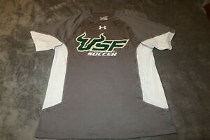 AUTHENTIC PLAYER ISSUED UNDER ARMOUR USF BULLS SOCCER SHIRT SIZE SMALLE EUC