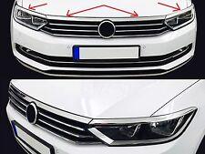 Chromleisten für Scheinwerfer+Motorhaube VW PASSAT B8 Modelle ab Bj.2015 - V2a