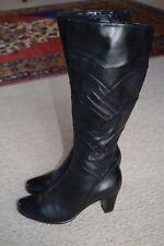 Sandler long black heel boots...size 36.5...stitched detail..excellent condition