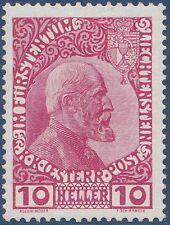 1912-1915  LIECHTENSTEIN N°2* Prince Jean II, cf scans recto-verso, cote 100€ MH