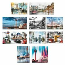 Artland Leinwandbild Abstrakt Städte Nettesart Bild New York Berlin Bunt