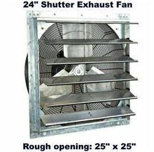 Commercial Wall Mount Shutter Exhaust Fan 24 Variable Speed Garage Shed Barn