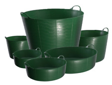 GREEN GENUINE TUBTRUG RED GORILLA HEAVY DUTY GARDEN DIY TUB BUCKET FLEXIBLE FLEX