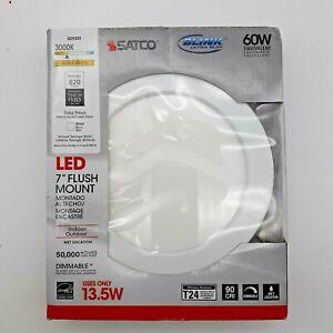 """SATCO Lighting S29331 Blink 7"""" Wide LED Flush Mount Ceiling Fixture - White"""
