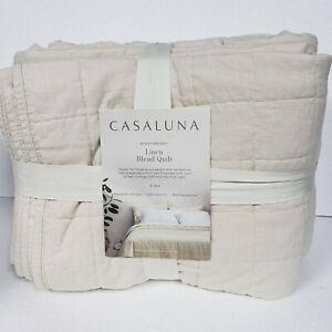 **STAINED** Casaluna Heavyweight Linen Blend Quilt, Natural - King/California