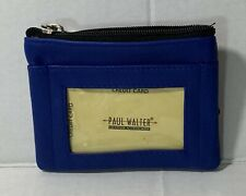 New Women Leather Blue Key / coin purse wallet card holder Pocket wallet zipper