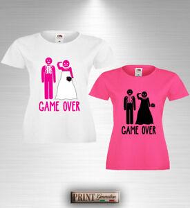 T-Shirt Enterrement Vie Jeune Fille Game Over Amusante Mariée Fête Amies