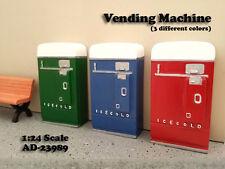 1 VENDING MACHINE DIORAMA BLUE FOR 1:24 SCALE MODELS BY AMERICAN DIORAMA 23989B