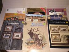 Lot of 9 Cross Stitch Pattern  Booklets- Illustrative And Instructional