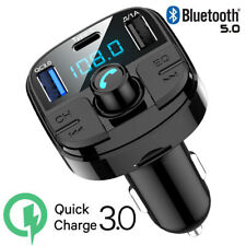 Bluetooth FM Transmitter Adapter Car Radio Music Player W/QC3.0 USB Car Charger
