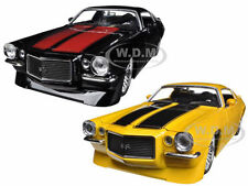1971 CHEVROLET CAMARO SS BLACK & YELLOW SET OF 2 CARS 1/24 JADA 90532-SET