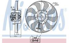NISSENS Ventilador, refrigeración del motor VOLKSWAGEN GOLF AUDI A3 SEAT 85684