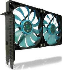Gelid Solutions Ventilateur emplacement PCI titulaire Refroidisseur VGA avec deux slim 120mm uv bleu fans