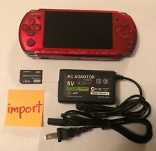 VIBRANT RADIANT RED PSP 3000 System w/ Charger, Memory Card Bundle TESTED Import