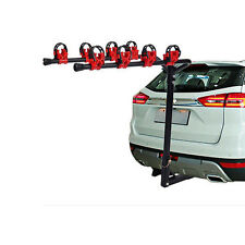 """Bike Carrier Portable 4 Bicycle Rack Trailer Hitch 1-1/4""""&2""""  Car SUV Red&Black"""