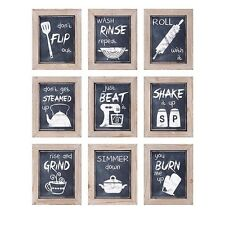 IMAX A0997340 Kitchen Inspirations Wall Decor - Set of 9 NEW