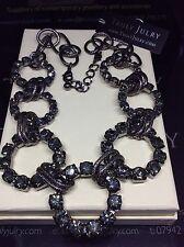 Señoras Contemporáneo Diseñador Grueso Silver Oscuro Enlace Collar Joyería Regalo UK