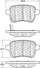 Disc Brake Pad Set fits 2014-2019 Fiat 500L  CENTRIC PARTS