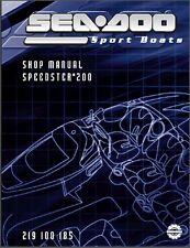 2004 Sea-Doo Speedster 200 Jet Boat Service Repair Shop Manual CD