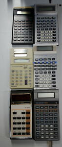 Rare Lot of 6 Early Texas Instruments  Calculators LOT #3 Will Ship WorldWide