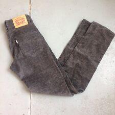 Levis 511 Mens 27x32 Corduroy Pants Gray Speckled HIP
